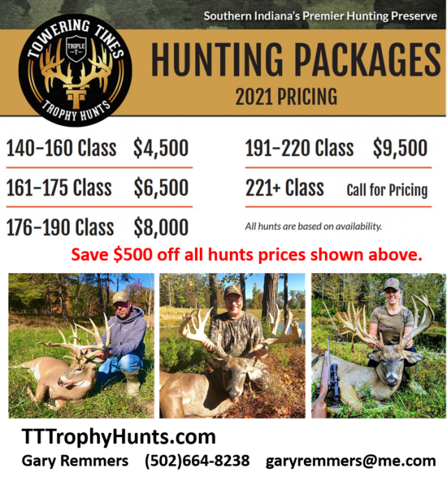 $500 Off ANY Trophy Whitetail Hunt Of Your Choice!